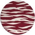 rug #414973 | round pink stripes rug