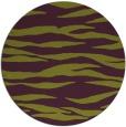 rug #414989 | round purple animal rug