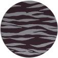 rug #414997 | round purple animal rug