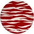 rug #415001 | round red animal rug
