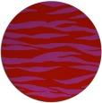 rug #415013 | round red stripes rug