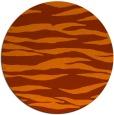 rug #415017 | round red-orange animal rug