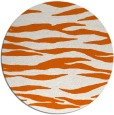 rug #415029 | round red-orange animal rug