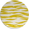 rug #415037 | round white animal rug