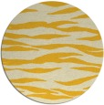 rug #415049   round yellow animal rug