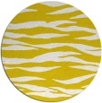 rug #415061   round yellow animal rug
