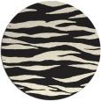 rug #415069   round black stripes rug