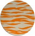 rug #415077 | round beige stripes rug