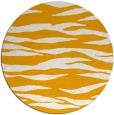 rug #415097   round light-orange animal rug