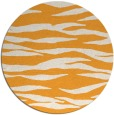 rug #415109 | round light-orange stripes rug