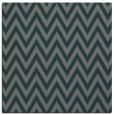 rug #415593 | square blue-green stripes rug