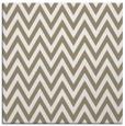 rug #415605 | square mid-brown stripes rug
