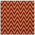 rug #415665 | square red-orange stripes rug