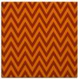 rug #415721 | square red-orange stripes rug