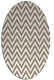 rug #415817 | oval white retro rug