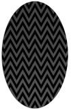 rug #415825 | oval black rug