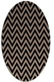 rug #415829 | oval black stripes rug