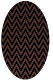 rug #415833   oval brown stripes rug