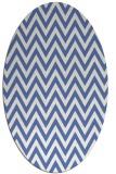 rug #415857   oval blue retro rug