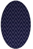 rug #415901 | oval blue-violet stripes rug