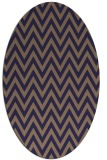 rug #415925 | oval blue-violet stripes rug