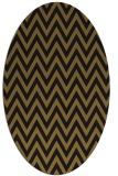 rug #415933 | oval black retro rug