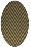 rug #415937 | oval brown retro rug