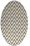 rug #415957 | oval white stripes rug