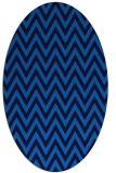 rug #415985 | oval blue retro rug