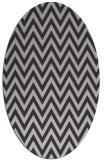 rug #416017 | oval red-orange stripes rug