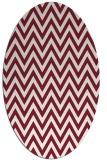 rug #416029   oval pink retro rug