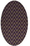 rug #416049 | oval purple stripes rug