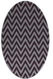 rug #416053 | oval purple retro rug