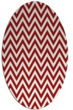 rug #416065 | oval red retro rug