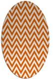 rug #416085   oval red-orange stripes rug