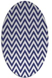 rug #416097 | oval white stripes rug