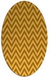 rug #416121 | oval yellow retro rug