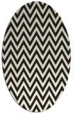 rug #416125 | oval black retro rug