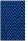 rug #416337    blue retro rug