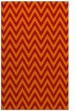 rug #416413 |  orange stripes rug