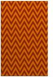 rug #416425 |  red-orange retro rug