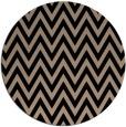 rug #416533 | round beige stripes rug