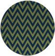 rug #416557 | round blue retro rug