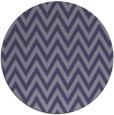 rug #416609   round blue-violet retro rug