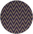 rug #416629 | round blue-violet rug