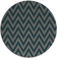 rug #416649 | round blue-green rug
