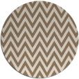 rug #416673 | round beige stripes rug