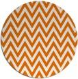 rug #416713 | round orange retro rug