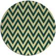 rug #416725   round yellow stripes rug