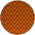 rug #416785   round red-orange stripes rug
